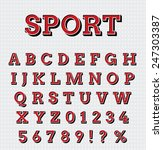 sport style letters set | Shutterstock .eps vector #247303387