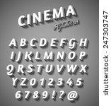 cinema style characters set | Shutterstock .eps vector #247303747