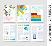 templates. set of flyer ...