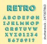 graphic 3d retro characters | Shutterstock .eps vector #247307863