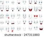 cartoon of various face... | Shutterstock .eps vector #247311883