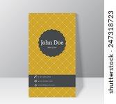 trendy business card template  | Shutterstock .eps vector #247318723