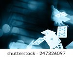 gambling  male players | Shutterstock . vector #247326097