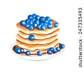 watercolor pancakes with... | Shutterstock .eps vector #247335493
