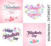 set of  happy valentine's day... | Shutterstock .eps vector #247340167