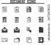 document icons set vector... | Shutterstock .eps vector #247342813