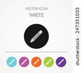 very useful icon of write on...   Shutterstock .eps vector #247351033