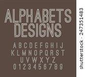 vintage style alphabets set... | Shutterstock .eps vector #247351483