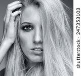 Monochrome Portrait Of Blonde...