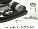 insulin vial  syringe  lancet ... | Shutterstock . vector #247354243