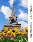 Eiffeltower In  Spring Sunny...