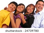 latin american family over a... | Shutterstock . vector #24739780