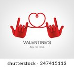 concept of hand love vector for ... | Shutterstock .eps vector #247415113