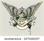 winged turntable | Shutterstock .eps vector #247430257