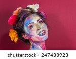 girl model beauty fashion... | Shutterstock . vector #247433923