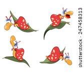 vector illustration of a set of ... | Shutterstock .eps vector #247458313