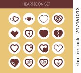 set of simple icons with heart... | Shutterstock .eps vector #247461013