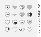 set of simple icons with heart... | Shutterstock .eps vector #247461043