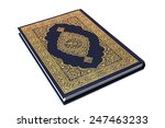 """holy book """"qur'an"""" isolated 