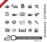car service icons    basics | Shutterstock .eps vector #247483963