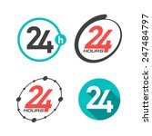 24 hours a day icons. vector. | Shutterstock .eps vector #247484797