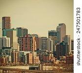 downtown denver  colorado usa... | Shutterstock . vector #247501783