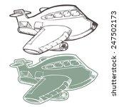 airplane cartoon hand draw... | Shutterstock .eps vector #247502173
