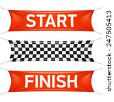 starting and finishing lines ... | Shutterstock .eps vector #247505413