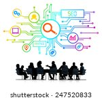 silhouettes of business people...   Shutterstock . vector #247520833