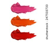 close up of a smudged lipstick   Shutterstock . vector #247533733