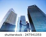 businessmen cityscape handshake ...   Shutterstock . vector #247541353