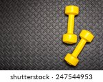 fitness equipment | Shutterstock . vector #247544953