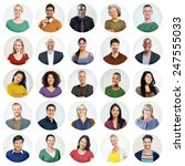 diverse people multi ethnic... | Shutterstock . vector #247555033