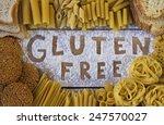gluten free word with wood... | Shutterstock . vector #247570027