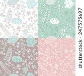 vector hand drawn seamless... | Shutterstock .eps vector #247575697