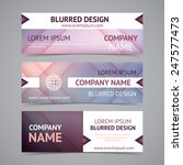vector company banners with... | Shutterstock .eps vector #247577473