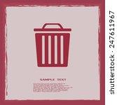 vector illustration of rubbish... | Shutterstock .eps vector #247611967