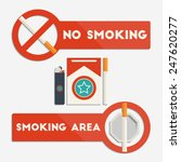 no smoking and smoking area... | Shutterstock .eps vector #247620277