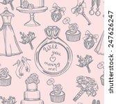 hand drawn doodle tender... | Shutterstock .eps vector #247626247
