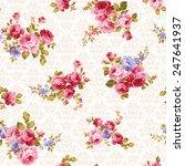 pattern of rose  | Shutterstock .eps vector #247641937