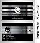 modern black business card...