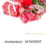 roses of an unusual color and a ... | Shutterstock . vector #247699057