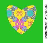 yellow valentine heart   on a... | Shutterstock . vector #247700383