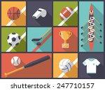team sports equipment flat... | Shutterstock .eps vector #247710157