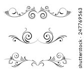 vector decorative elements ... | Shutterstock .eps vector #247769563