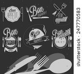 bon appetit  enjoy your meal ... | Shutterstock .eps vector #247770583