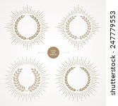 vector set of laurel wreath... | Shutterstock .eps vector #247779553