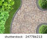 garden detail in aerial view... | Shutterstock . vector #247786213