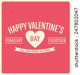 typographic valentines day... | Shutterstock .eps vector #247802047