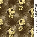 flowers on brown background... | Shutterstock .eps vector #247807687
